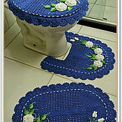 Ковры ручной работы. Ярмарка Мастеров - ручная работа Комплект дпя ванной комнаты. Handmade.