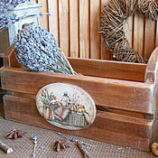 """Для дома и интерьера ручной работы. Ярмарка Мастеров - ручная работа Короб из кедра """"Уютный уголок"""". Handmade."""