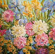 Картины и панно ручной работы. Ярмарка Мастеров - ручная работа Ирисы-Пионы. Handmade.