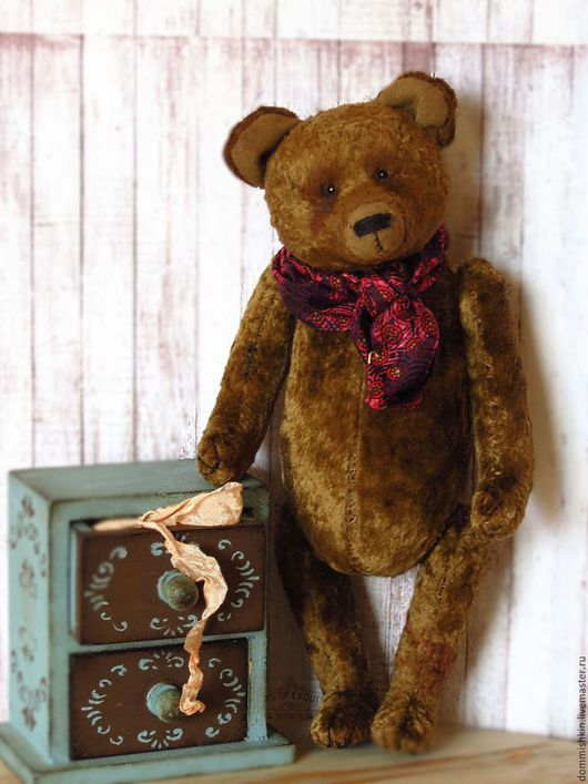 Мишки Тедди ручной работы. Ярмарка Мастеров - ручная работа. Купить Луи. Handmade. Коричневый, винтажный мишка, опилки