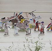 Куклы и игрушки handmade. Livemaster - original item North American Indians 1870. Handmade.