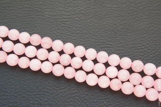 Для украшений ручной работы. Ярмарка Мастеров - ручная работа. Купить Кварц розовый шар 8 мм. Handmade.