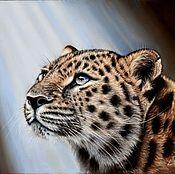Картины и панно ручной работы. Ярмарка Мастеров - ручная работа картина пастелью леопард. Handmade.