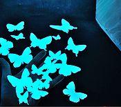 Для дома и интерьера ручной работы. Ярмарка Мастеров - ручная работа Светящиеся виниловые наклейки - Юные бабочки. Handmade.