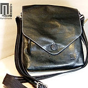 548fe6b5c8b0 Men s shoulder bag Black (envelope)-2 – shop online on Livemaster ...