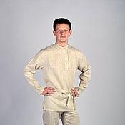 Народные рубахи ручной работы. Ярмарка Мастеров - ручная работа Косоворотка льняная. Handmade.
