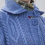 Одежда ручной работы. Ярмарка Мастеров - ручная работа Вязаное шерстяное пальто. Handmade.
