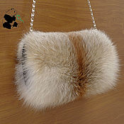 Аксессуары handmade. Livemaster - original item Elegant fur Muff bag made of fur Siberian red Fox.. Handmade.