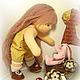 """Вальдорфская игрушка ручной работы. Заказать """"Такая шоколадка"""" с зайкой - кукла вальдорфская 33 см. Морозова Наталия (mirkukol). Ярмарка Мастеров."""
