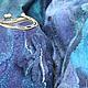 """Комплекты аксессуаров ручной работы. Комплект """"Бурная река"""". Сумка и палантин + брошь. Светлана Солодовникова  (Fox-svet-lana). Ярмарка Мастеров."""