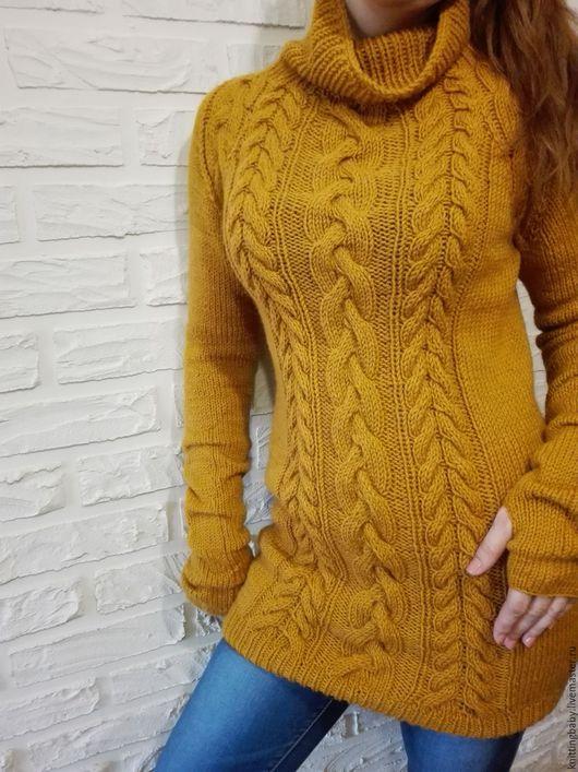 Фото, свитер с косами