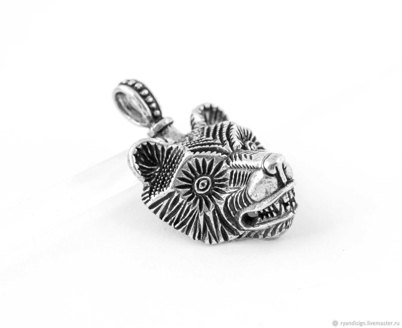 Серебряное украшение подвеска Медведь