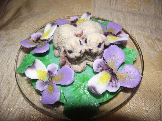Мыло ручной работы. Ярмарка Мастеров - ручная работа. Купить Братцы кролики. Handmade. Мыло ручной работы, зайка