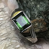 Украшения handmade. Livemaster - original item Silver handmade ring with green Tourmaline 1,52 ct. Handmade.
