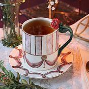 Посуда handmade. Livemaster - original item teacups: Porcelain Cup and saucer tea