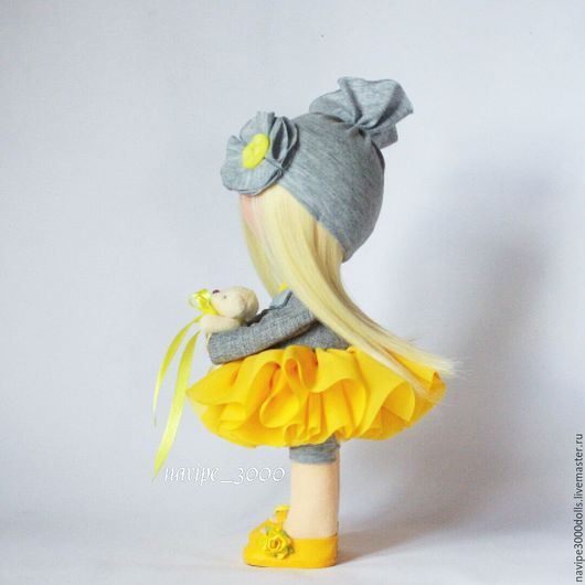 Куклы тыквоголовки ручной работы. Ярмарка Мастеров - ручная работа. Купить Интерьерная кукла. Handmade. Желтый, кукла текстильная