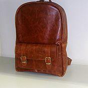 Сумки и аксессуары handmade. Livemaster - original item Backpack leather 122r. Handmade.