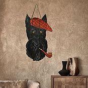 Картины ручной работы. Ярмарка Мастеров - ручная работа Скотч терьер.Панно на стену.. Handmade.