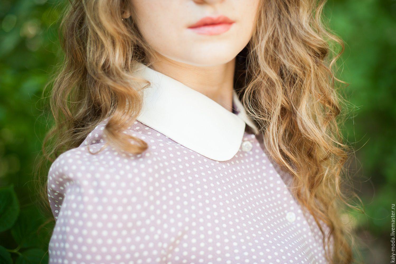 Блузки с воротничками в москве