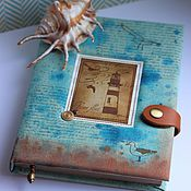Канцелярские товары handmade. Livemaster - original item Notebook Sea. Handmade.