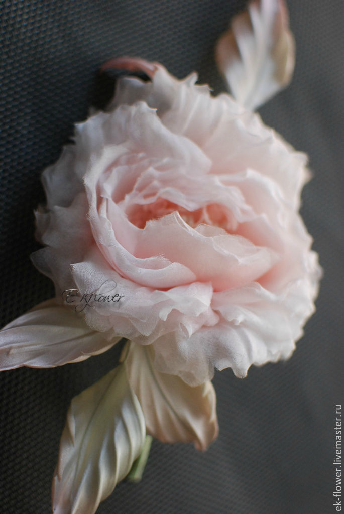 Flowers made of fabric. Silk flowers.Rose ' Geneia', Flowers, St. Petersburg,  Фото №1