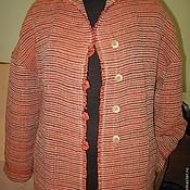 Одежда ручной работы. Ярмарка Мастеров - ручная работа Летнее пальто из льна сотканное вручную. Handmade.
