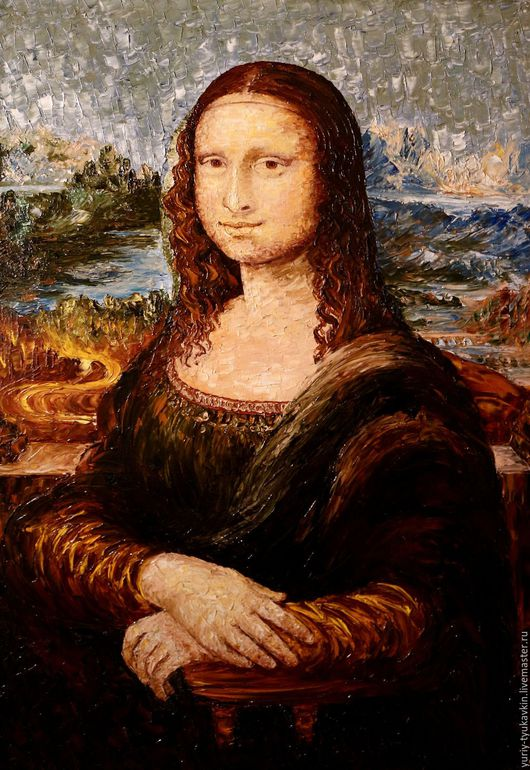 """Люди, ручной работы. Ярмарка Мастеров - ручная работа. Купить """" Мона Лиза """" (Джоконда). Handmade. Коричневый, люди"""
