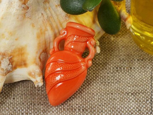 Для украшений ручной работы. Ярмарка Мастеров - ручная работа. Купить Аромакулон керамический №3 (красный). Handmade. Аромакулон, ароматерапия