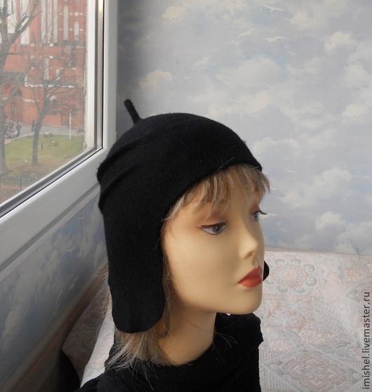 """Шапки ручной работы. Ярмарка Мастеров - ручная работа. Купить валяная шапка """"Руны"""". Handmade. Черный, шапочки валяные"""