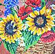 """Картины цветов ручной работы. Картина """"Букет"""" вышивка бисером. Елена Сидорова (ТМ 'СЕлена'). Ярмарка Мастеров. Вышитая картина"""