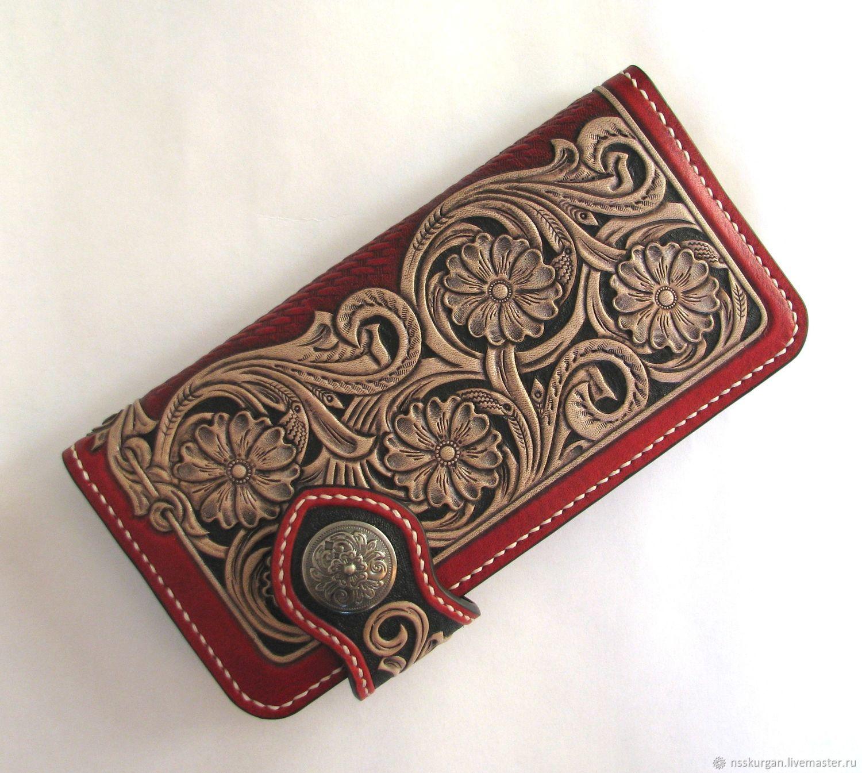 Women's purse. Red and Black . Sheridan style, Wallets, Kurgan,  Фото №1