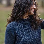 Одежда handmade. Livemaster - original item Sweater warm wool Alpaca large knit Alpine Fantasy. Handmade.
