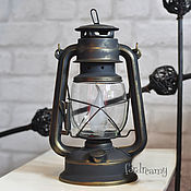 Для дома и интерьера handmade. Livemaster - original item Kerosene electric table lamp black rustic loft retro. Handmade.