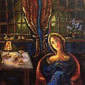 Картины ручной работы. Ярмарка Мастеров - ручная работа Картины: Вечер.. Handmade.