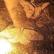 Для дома и интерьера ручной работы. Ярмарка Мастеров - ручная работа Маленькое венецианское орнаментальное зеркало ручной работы с бабочкой. Handmade.