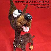 Материалы для творчества handmade. Livemaster - original item MK knitting dog Doberman Dobica. Handmade.