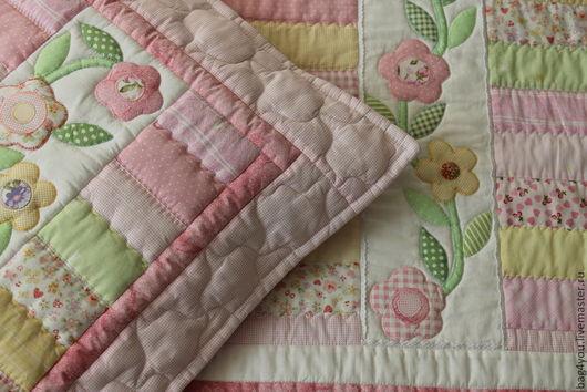 """Пледы и одеяла ручной работы. Ярмарка Мастеров - ручная работа. Купить Лоскутное одеяло - покрывало """"Нежность"""". Handmade. Лоскутное шитье"""