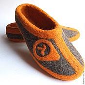 Обувь ручной работы. Ярмарка Мастеров - ручная работа Тапочки мужские валяные. Handmade.