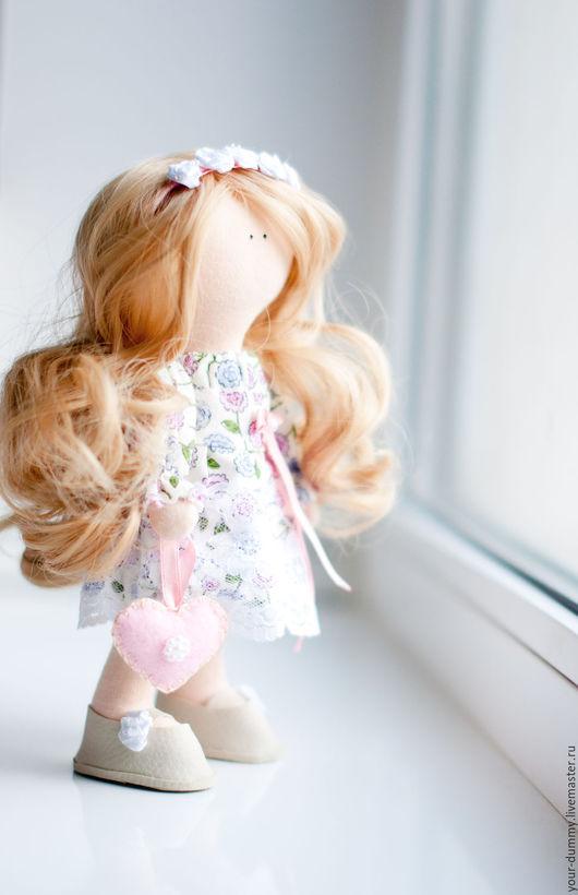 Коллекционные куклы ручной работы. Ярмарка Мастеров - ручная работа. Купить Машуля. Handmade. Коралловый, подарок на любой случай, кожа