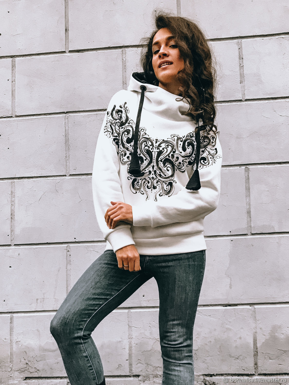 Black&white sweatshirt, Sweatshirts, Ivanovo,  Фото №1