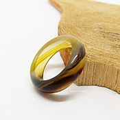 Украшения handmade. Livemaster - original item A ring of yellow-brown agate size 16. Handmade.