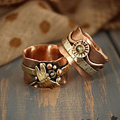 Украшения handmade. Livemaster - original item Pair of copper rings