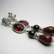Украшения handmade. Livemaster - original item Earrings garnet and red Jasper