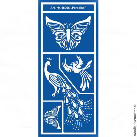 Трафарет  универсальный арт 48206 12x28 `Рай`   1/0