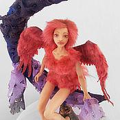 Куклы и игрушки ручной работы. Ярмарка Мастеров - ручная работа Интерьерная кукла Розовая Пташка. Handmade.