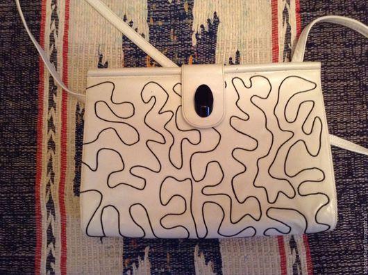 Винтажные сумки и кошельки. Ярмарка Мастеров - ручная работа. Купить Gino ANDROVANDI летняя сумочка, винтаж, оригинал. Handmade. Белый