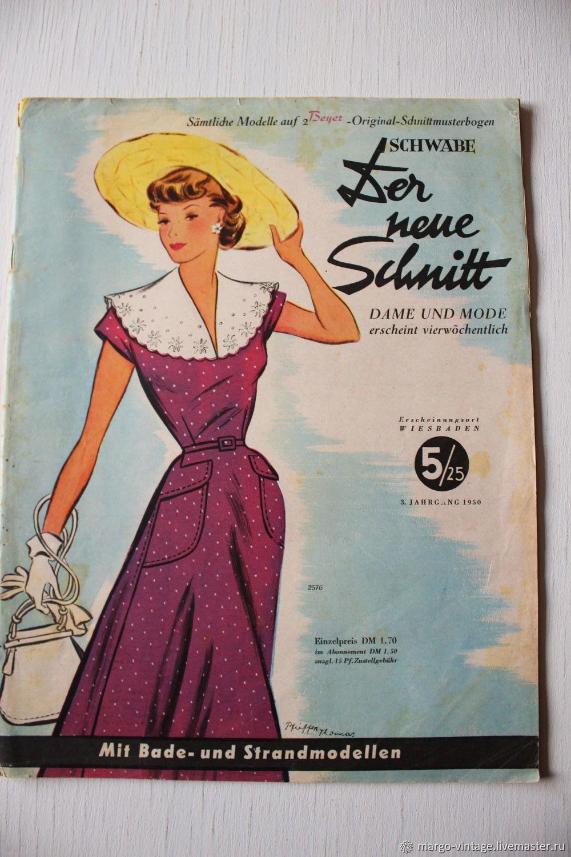 Винтаж: Schwabe der neue Schnitt - журнал мод 5/1950, Книги винтажные, Бонн,  Фото №1
