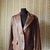 Куртка - пиджак. My Own. Натуральная кожа. Размер 50-52