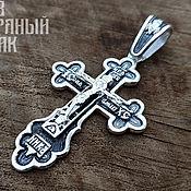 Украшения handmade. Livemaster - original item A large Orthodox Cross. Silver 925 art.1061421. Handmade.