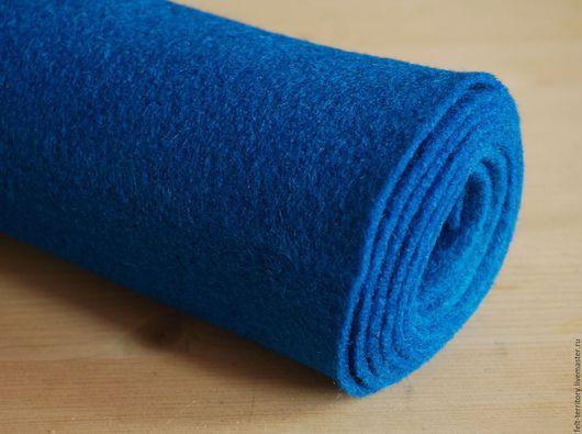 Валяние ручной работы. Ярмарка Мастеров - ручная работа. Купить Фетр рулонный синий. Handmade. Тёмно-синий, Ультрамарин, фетр